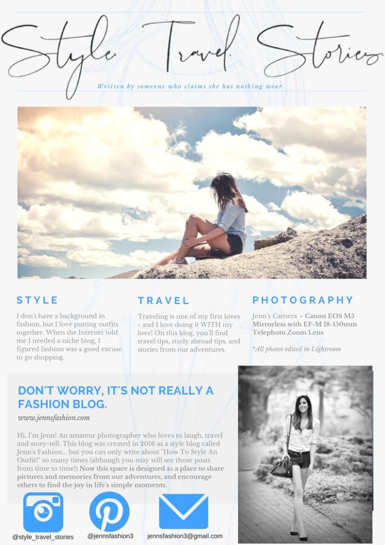 Blue Black Modern Fashion Blogger Press Media Kit